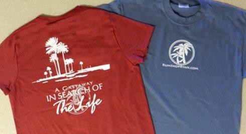 Castaway t-shirts