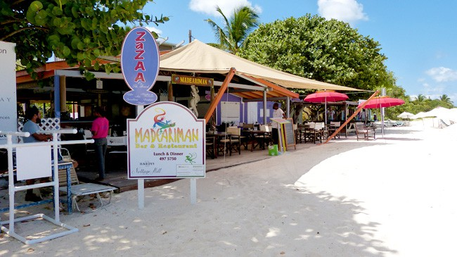 Madeariman Beach Bar Shoal Bay Anguilla