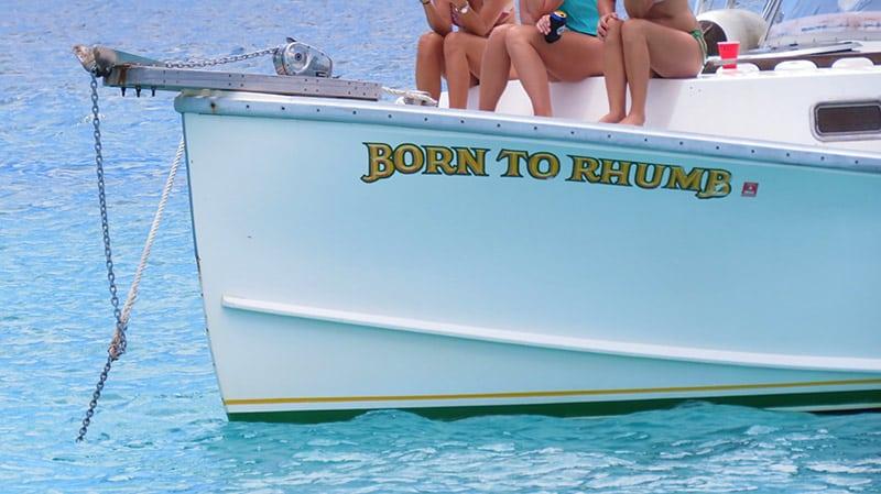 Born to Rhumb St John boat Charter
