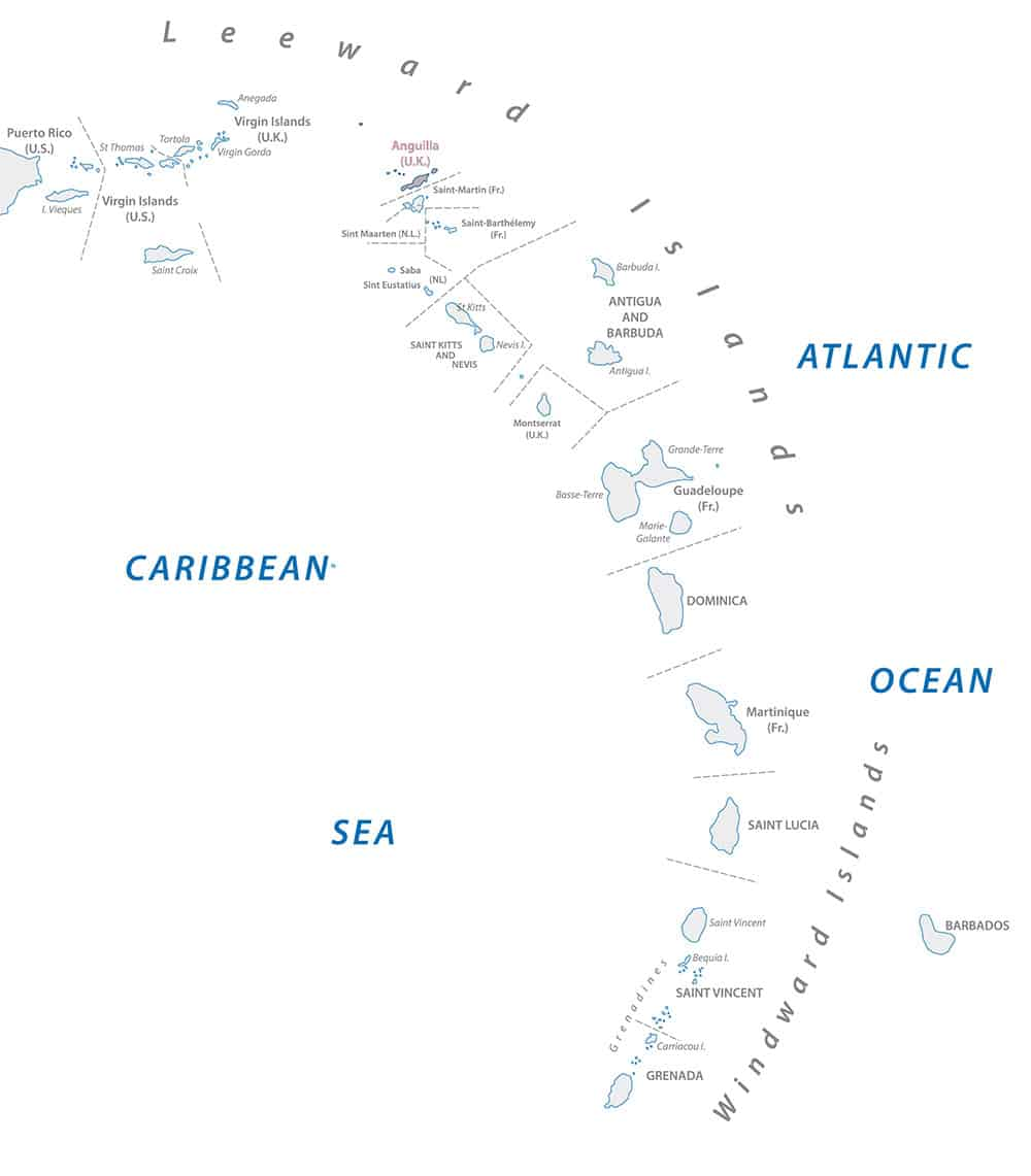 Windward Islands Leeward Islands