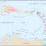 Caribbean map of Antilles and windward leeward islands