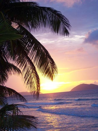 Sunset on Tortola BVI