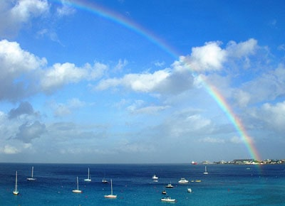Rainbow over Bridgetown Barbados