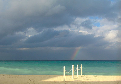 Rainbow over Grand Cayman