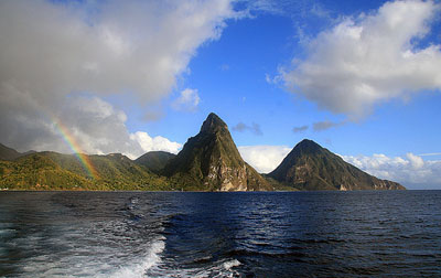 Rainbow over St. Lucia