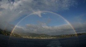 Rainbow over St. Vincent