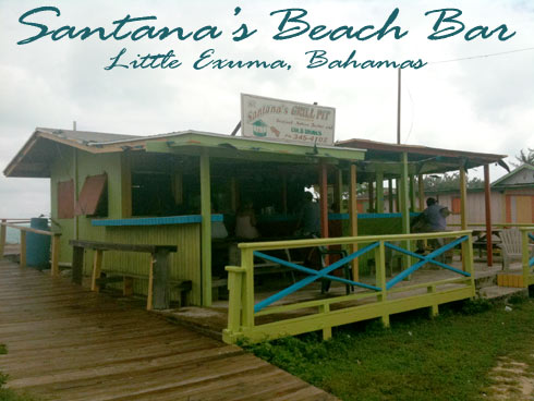 Santana's Beach Bar Little Exuma