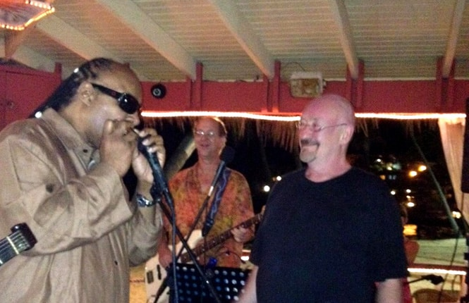 Stevie Wonder at Iggies Beach Bar
