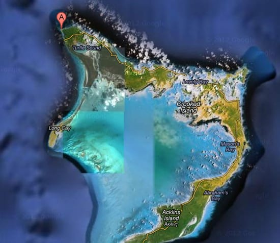 Crooked Island Map Bahamas