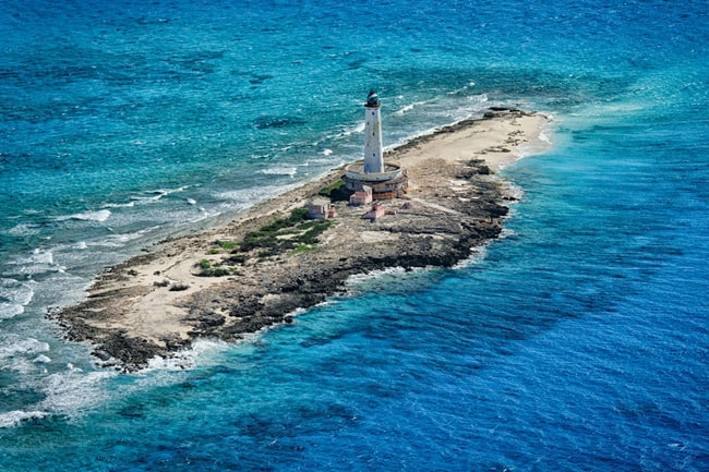 Bird Rock Lighthouse Crooked Island Bahamas