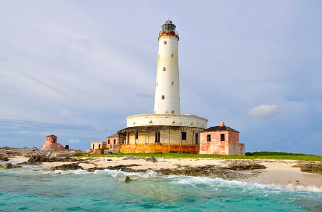 Bird rock lighthouse Bahamas