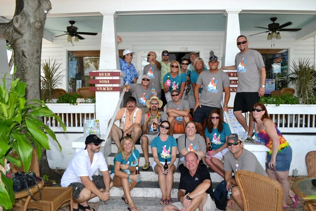 conched in Key West bar crawl