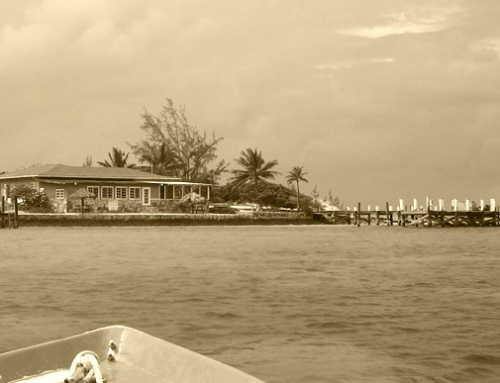 15 Caribbean Beach Bars Cloaked in Black and White
