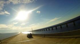 Driving over Seven Mile Bridge