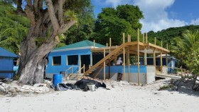 Ivan's Beach Bar on Jost, Memories and Construction Progress