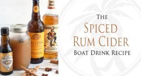 Spiced rum cider