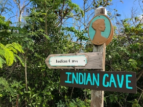 Indian Cave Middle Caicos Mudjin Harbor Turks and Caicos