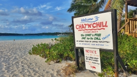 Chat N' Chill, Beach Bar, Stocking Island, Elizabeth Harbour, Exumas