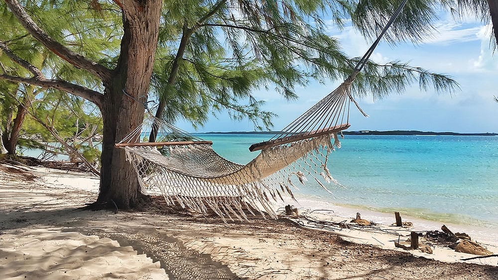 hammock, Chat N' Chill, Beach Bar, Exumas, Stocking Island