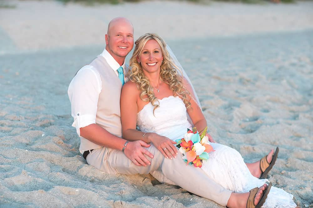 Bride, Groom, Wedding, Beach Wedding