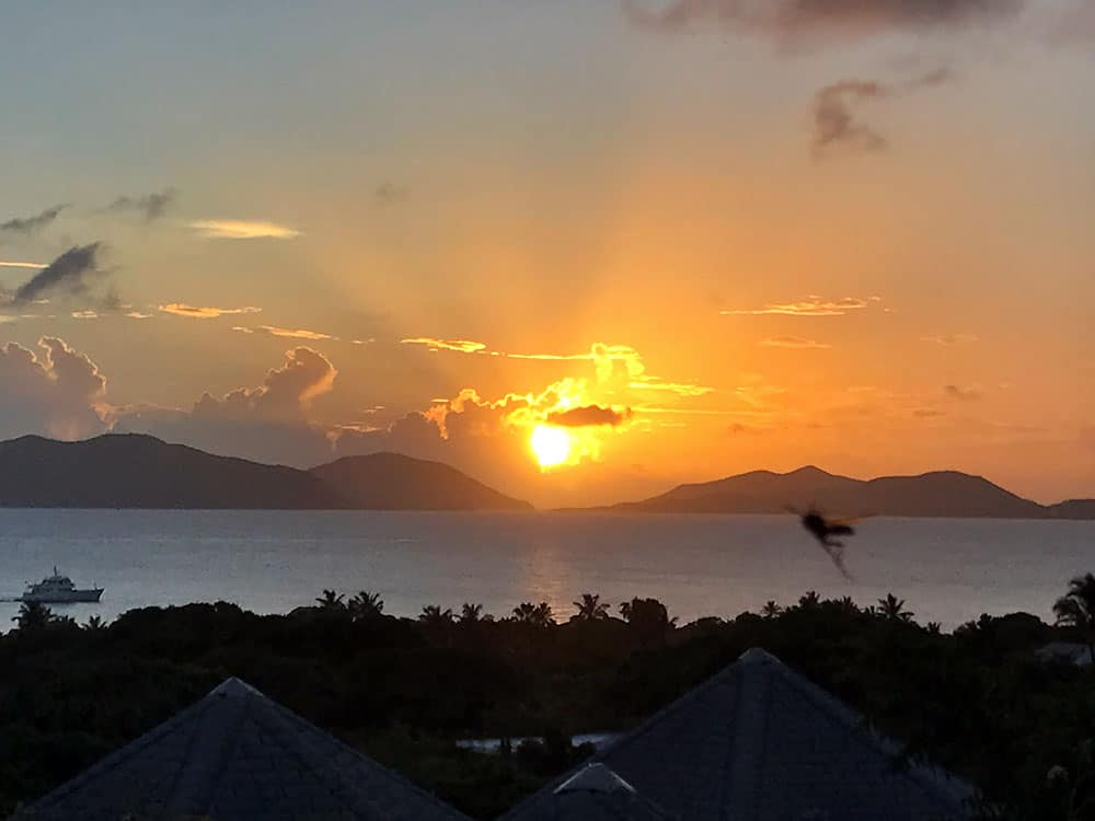 Mosquito, Virgin Gorda, British Virgin Islands, Sunset