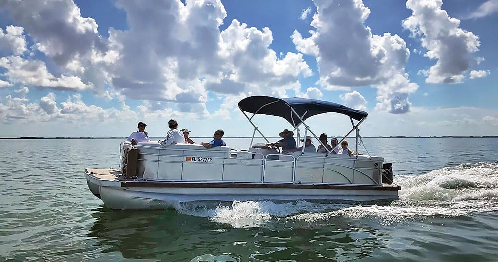 pontoon boat, Cayo Costa, Captiva