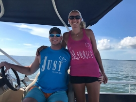 Cayo Costa, Just Married, Jensens Boat Rental