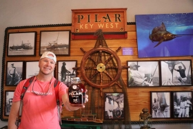 Papas Pilar rum and Pilar boat in Key West