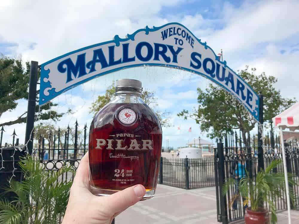 Key West Mallory Square and Papas Pilar rum