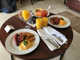 Secrets Cap Cana Breakfast