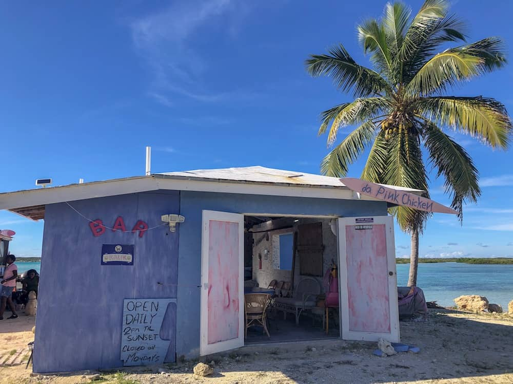Da Pink Chicken, Cat Island, Bahamas, Beach Bar