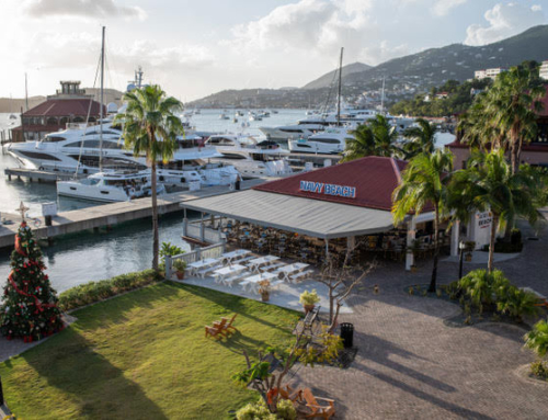A St. Thomas Restaurant With A Mega Yacht View