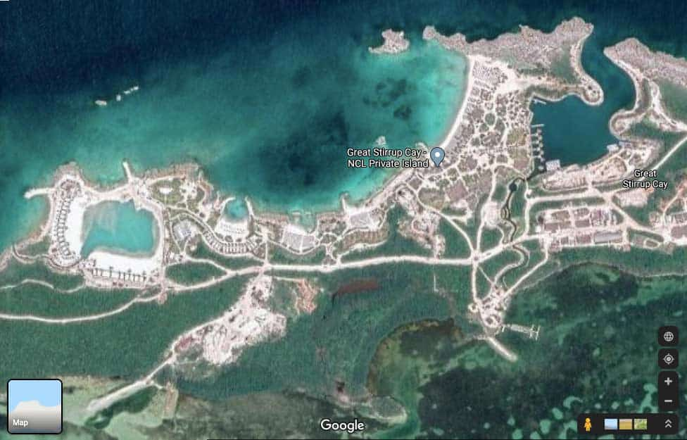 Great Stirrup Cay Visual Map