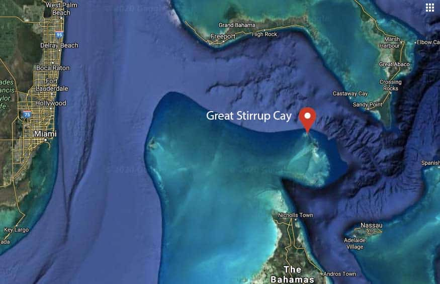 Where is Great Stirrup Cay Location in Bahamas