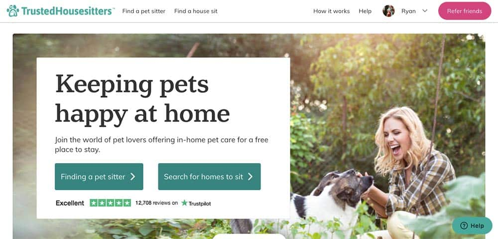 Trusted House Sitters website
