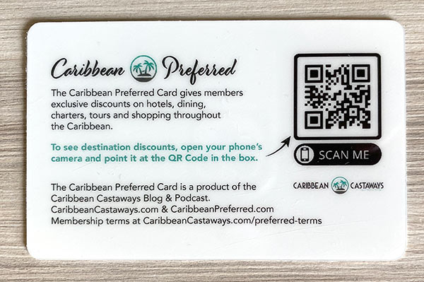 Caribbean Preferred Card discounts